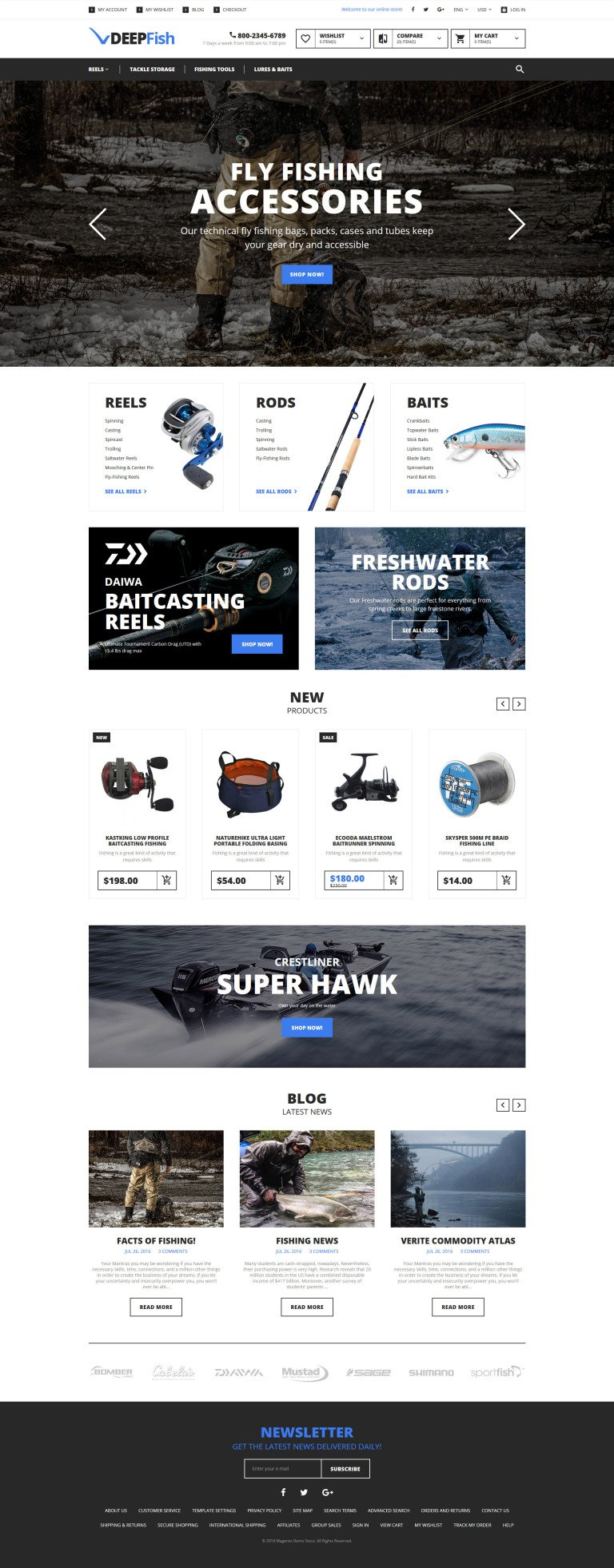 DeepFish Magento Theme New Screenshots BIG
