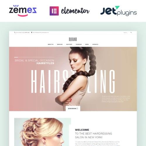 Durand Beauty & Hair Salon - Responsive WordPress Template