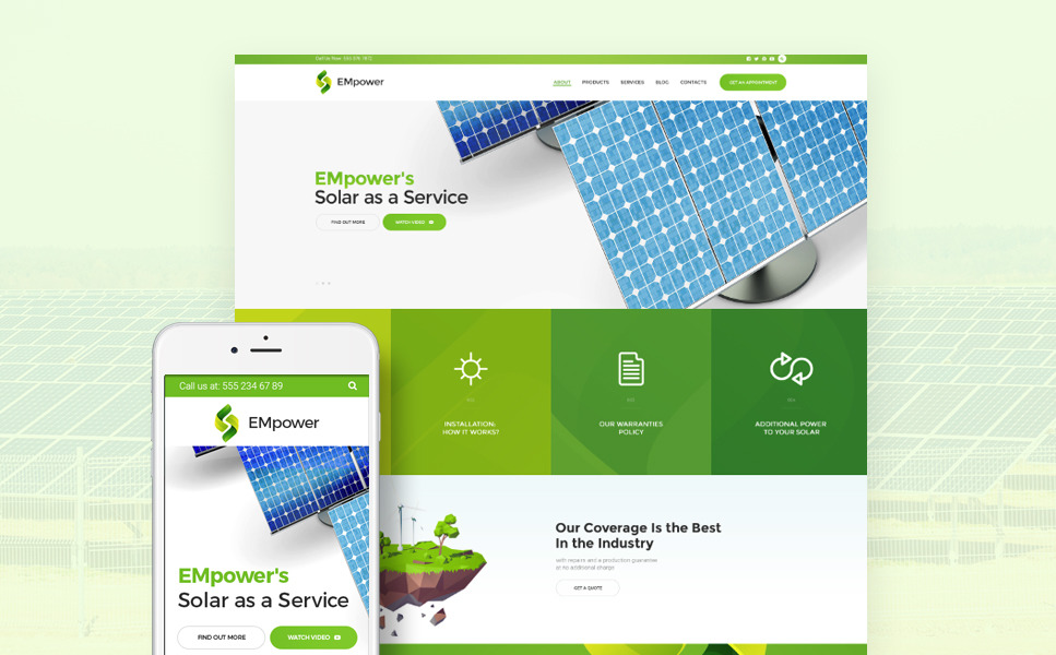 EMpower - Solar & Renewable Energy WordPress Theme New Screenshots BIG
