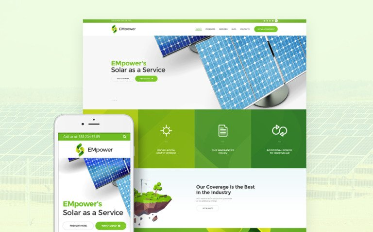 EMpower - Solar & Renewable Energy WordPress Theme New Screenshots BIG