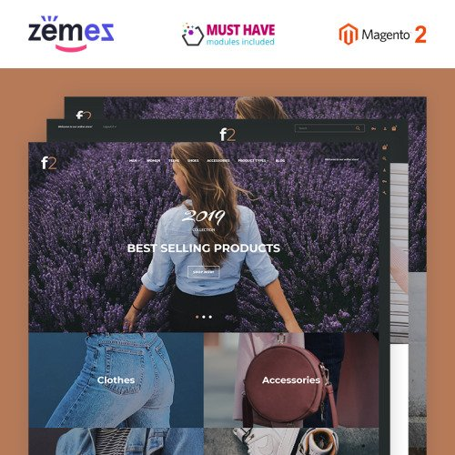 F2 Fashion Boutique - Responsive Magento Template