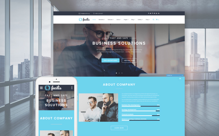 Facilis Website Template New Screenshots BIG
