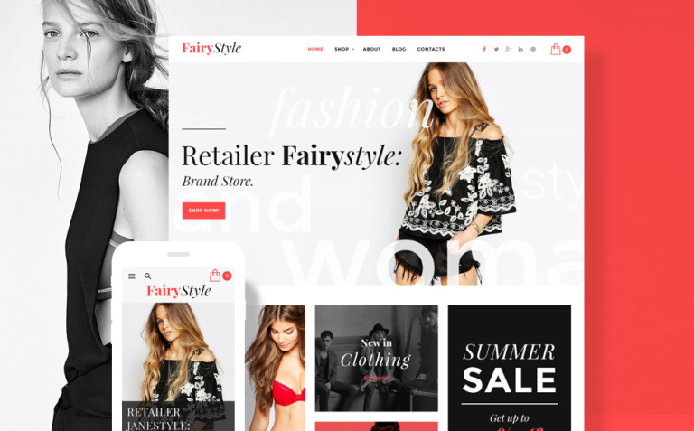 FairyStyle Website Template New Screenshots BIG