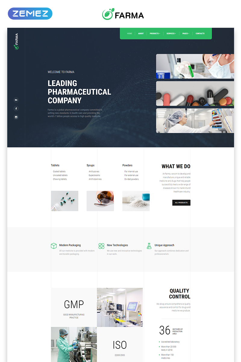 Farma - Pharmacy Multipage Clean Bootstrap HTML Website Template