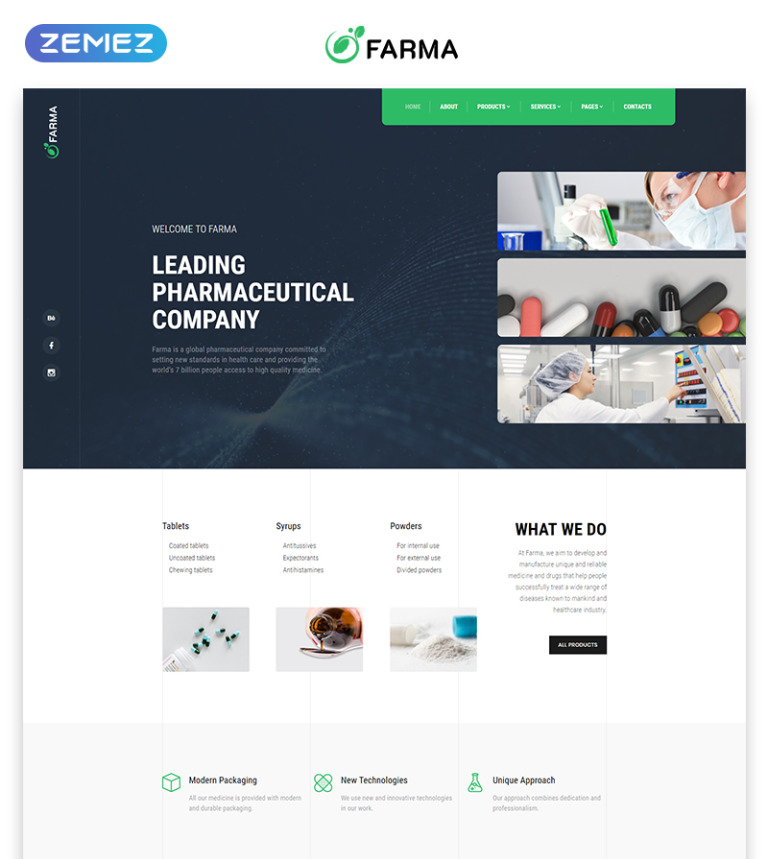 Pharmaceutical Multipage Html Template
