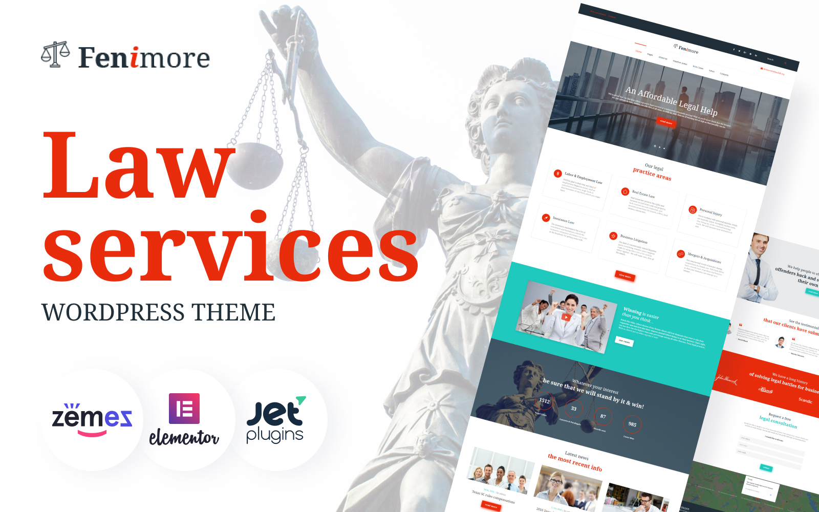 Fenimore - Law Firm WordPress Theme