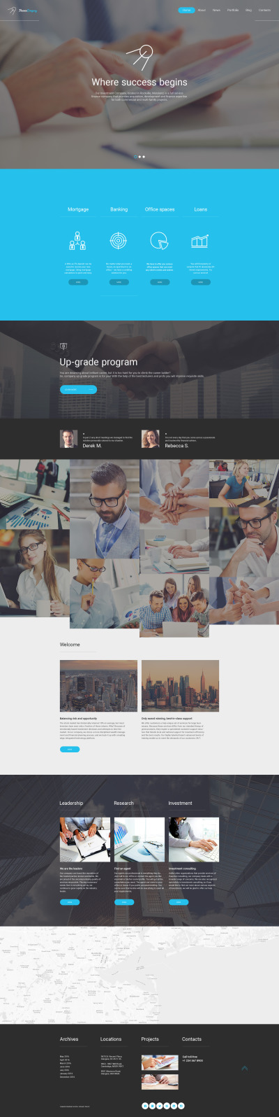 Flexível template Web №58906 para Sites de Consultor financeiro