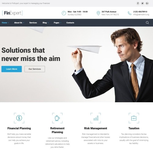 FinExpert - Website Template based on Bootstrap