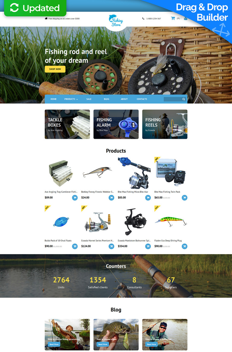 Fishing Responsive MotoCMS Ecommerce Template New Screenshots BIG