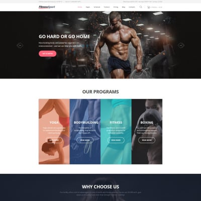 30+ Best Fitness Website Templates