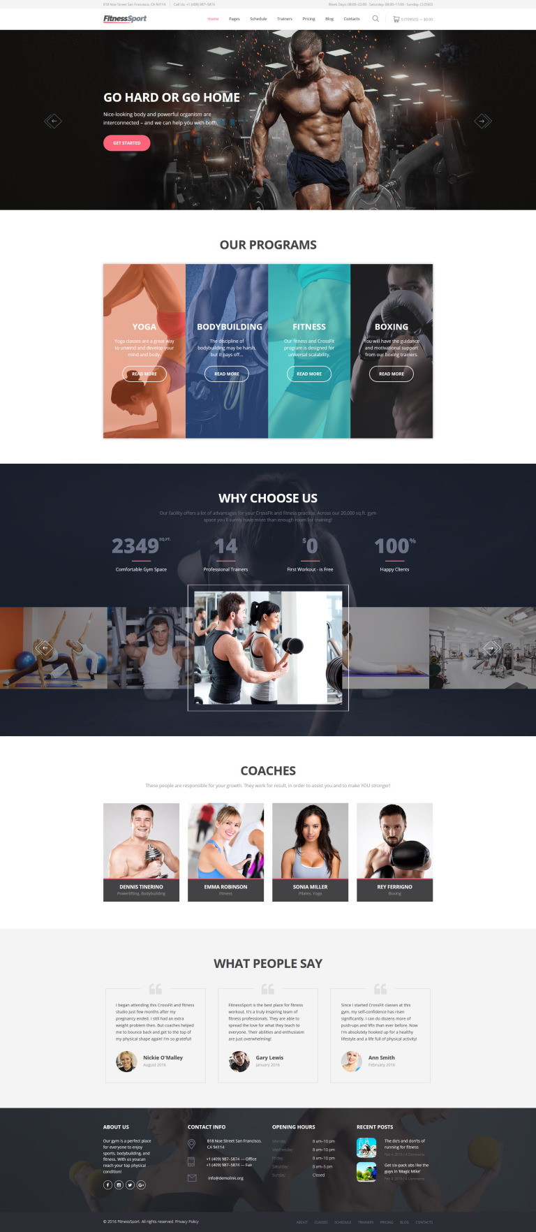 FitnessSport Website Template New Screenshots BIG