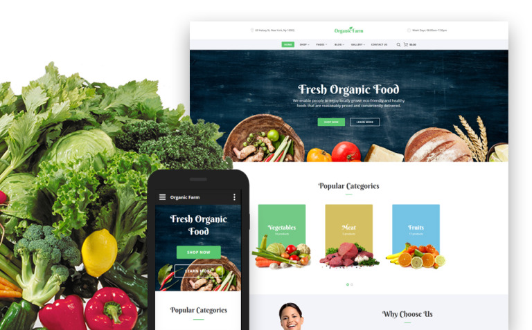 Food & Drink Responsive Website Template New Screenshots BIG