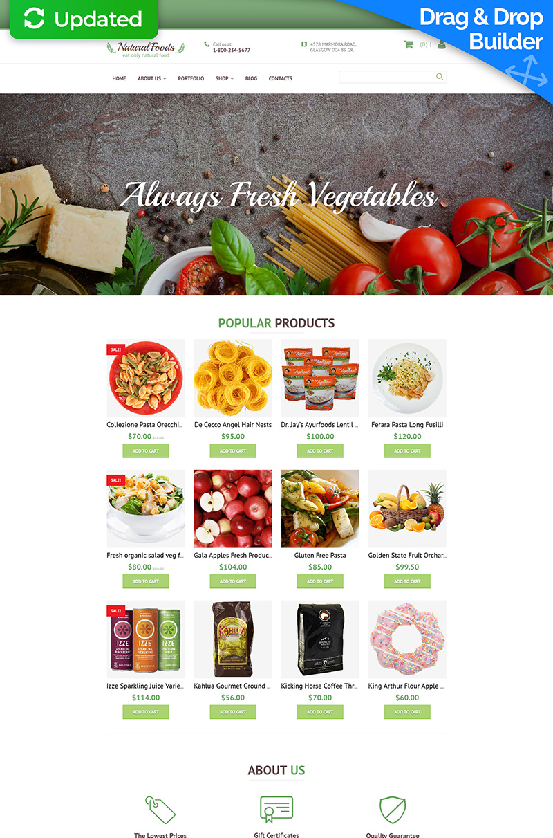 Food Store Responsive MotoCMS Ecommerce Template