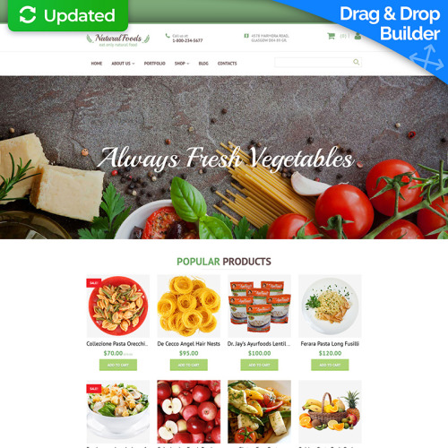Natural Food's - MotoCMS Ecommerce Template based on Bootstrap
