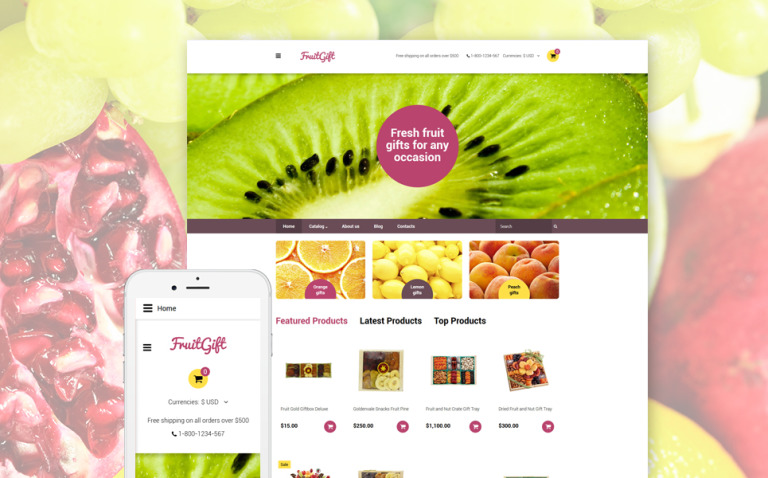 FruitGift VirtueMart Template New Screenshots BIG