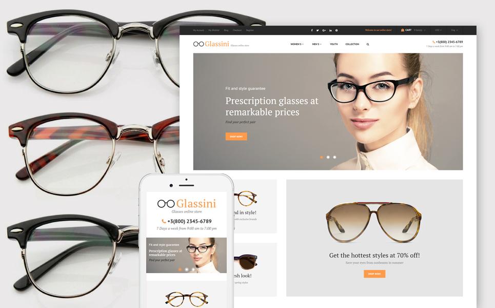 glassini glasses store magento theme