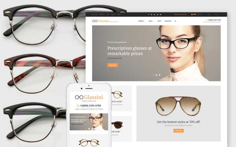 Glassini Magento Theme New Screenshots BIG