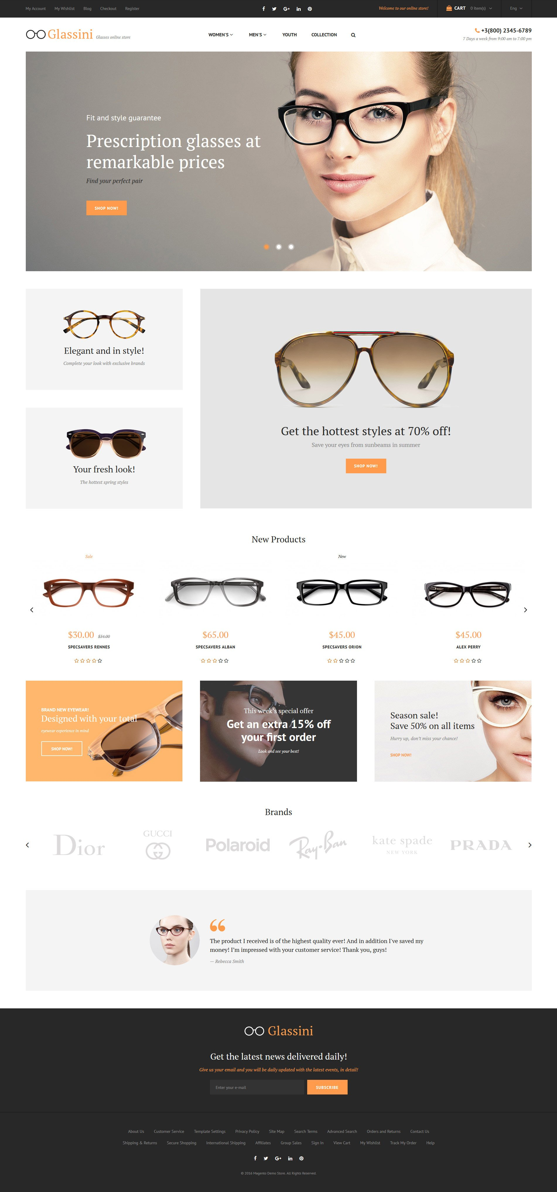 Glassini Magento Theme