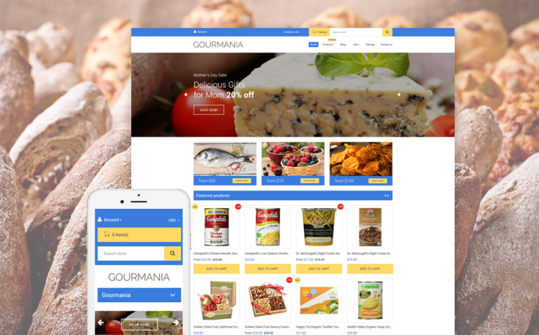 Gourmania Shopify Theme New Screenshots BIG