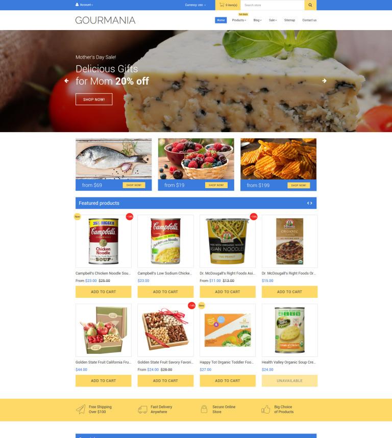 Gourmania Shopify Theme