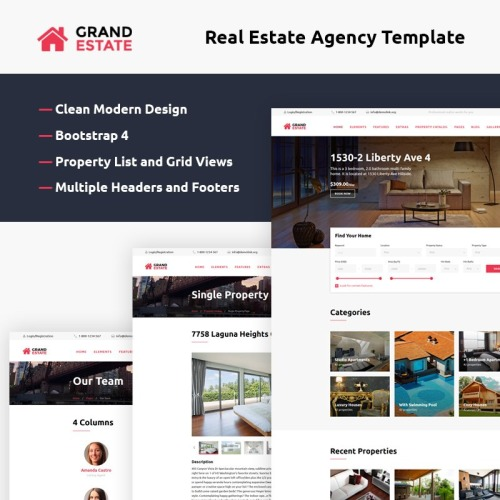 Grand Estate - Website Template based on Bootstrap