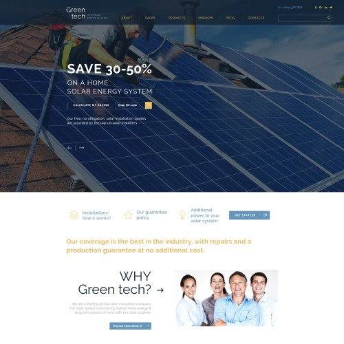 Green Tech - Website Template based on Bootstrap