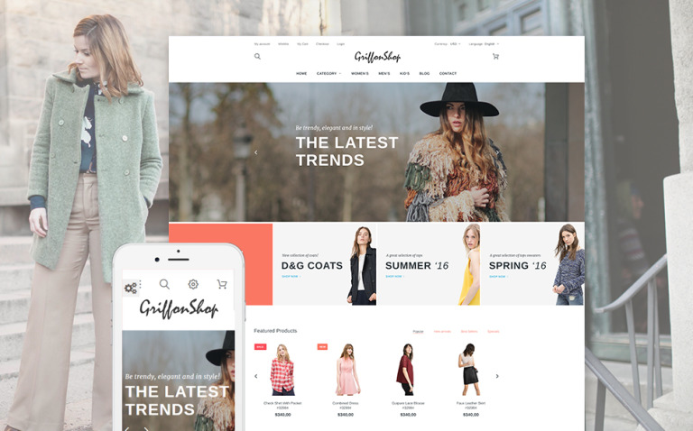 Griffon Shop - Apparel PrestaShop Theme New Screenshots BIG