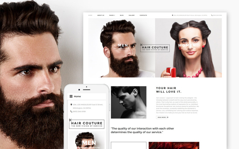 Hair Salon Responsive Joomla Template New Screenshots BIG