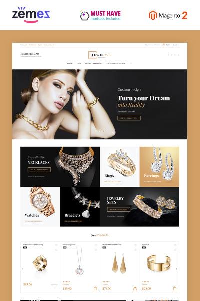 Jewelrix - Tema Magento 2 para Joyería #58903