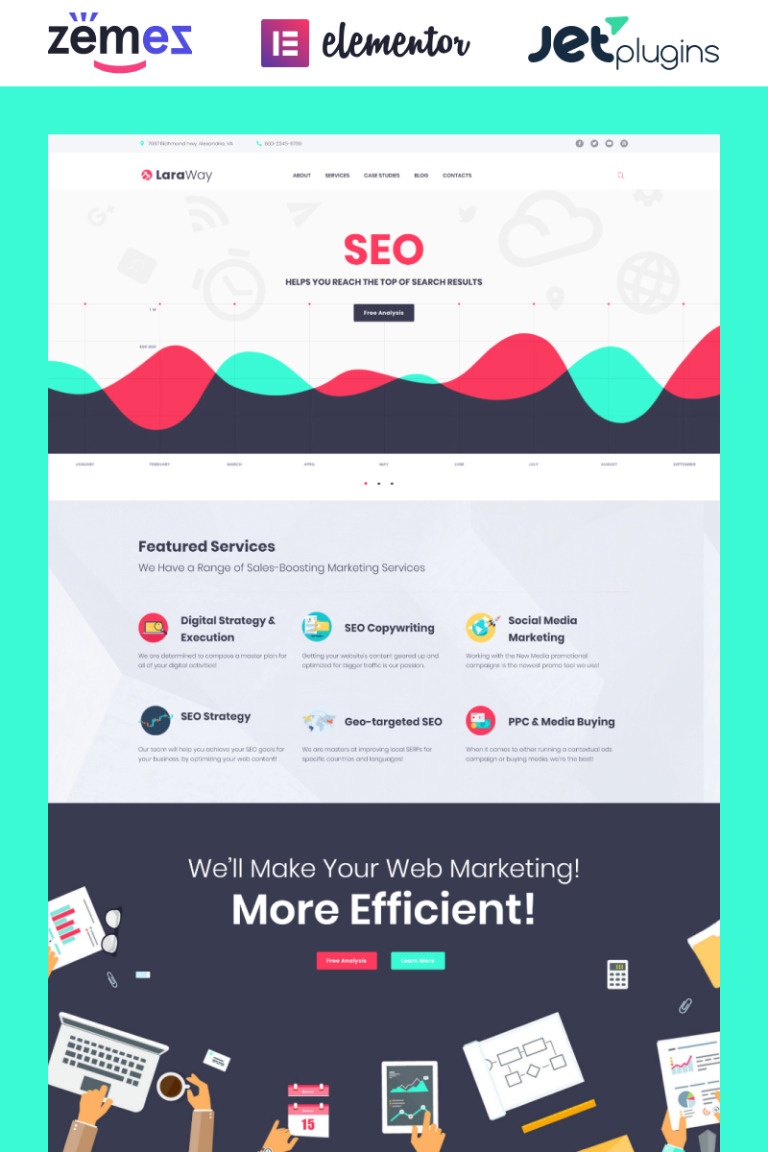 Laraway - SEO & Digital Marketing Agency WordPress Theme New Screenshots BIG