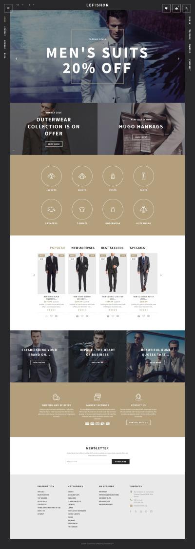 Fashion Responsive PrestaShop шаблон