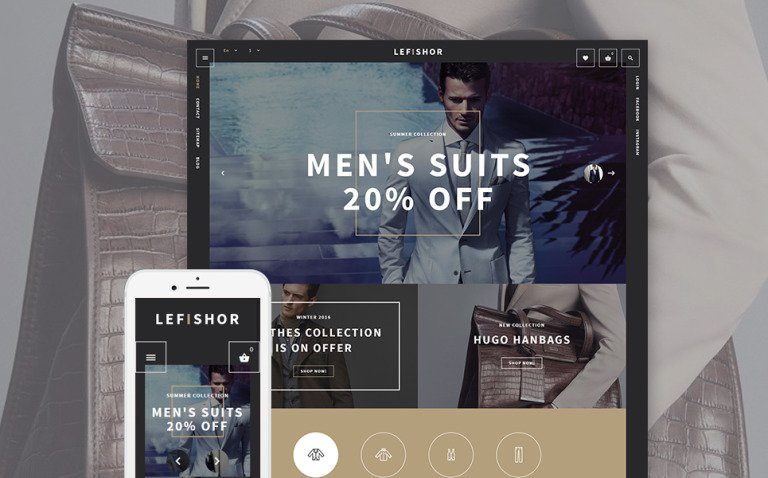 Lefishor - Men's Clothes Accessories PrestaShop Theme New Screenshots BIG