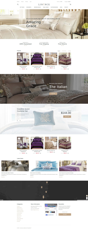 Linence - Bed Linen PrestaShop Theme