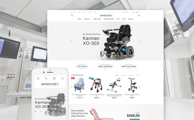Mansavex - Medical Equipment PrestaShop Theme New Screenshots BIG