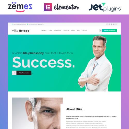 Mike Bridge  - Responsive WordPress Template