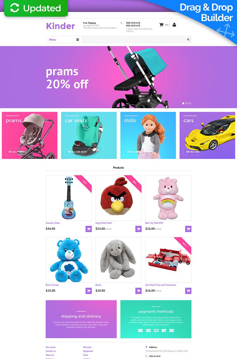Modello MotoCMS E-commerce Responsive #58997 per Un Sito di Negozio per Bambini - screenshot
