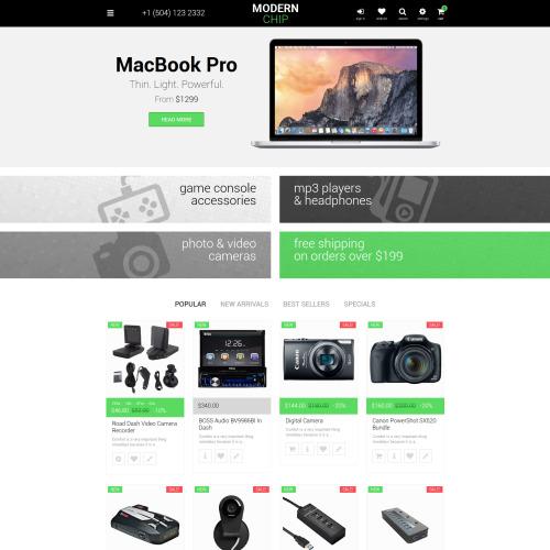 Modern Chip - PrestaShop Template based on Bootstrap