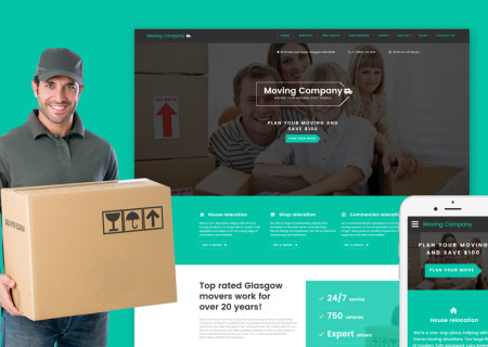 Moving Company Responsive