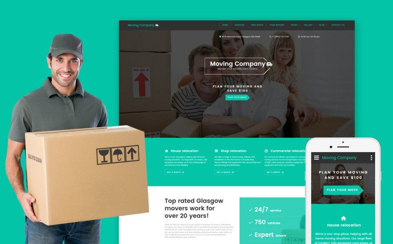 Moving Company Responsive Website Template New Screenshots BIG