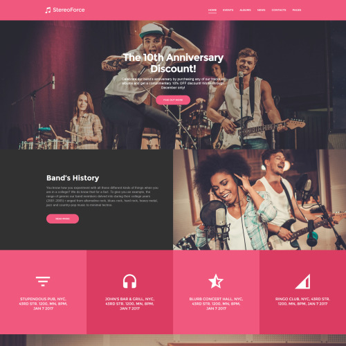 Stereoforce - Responsive WordPress Template