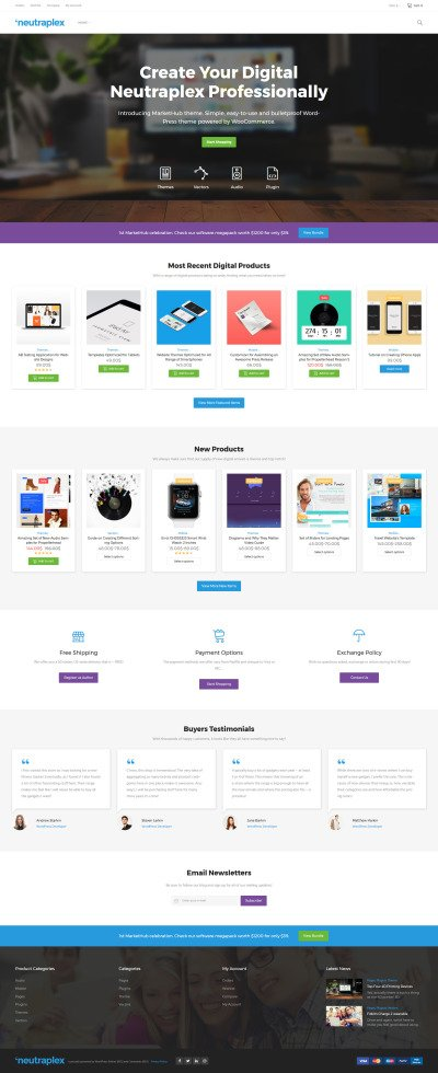 Neutraplex - Electronics WooCommerce Theme