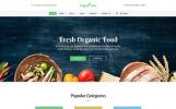 """Organic Farm -  Food & Drink Multipage Creative HTML Bootstrap"" modèle web adaptatif"