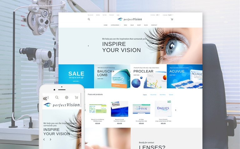 Perfect Vision PrestaShop Theme New Screenshots BIG