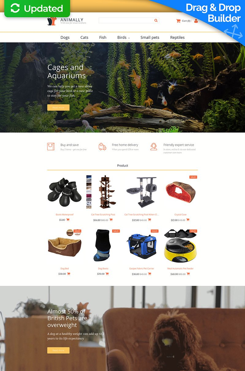 Pet Shop Responsive MotoCMS Ecommerce Template - screenshot