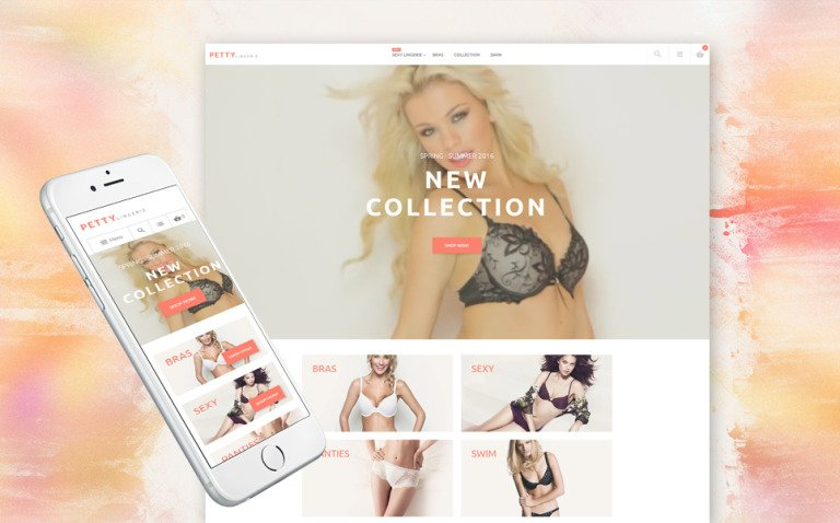 Petty - Lingerie Store Magento Theme New Screenshots BIG