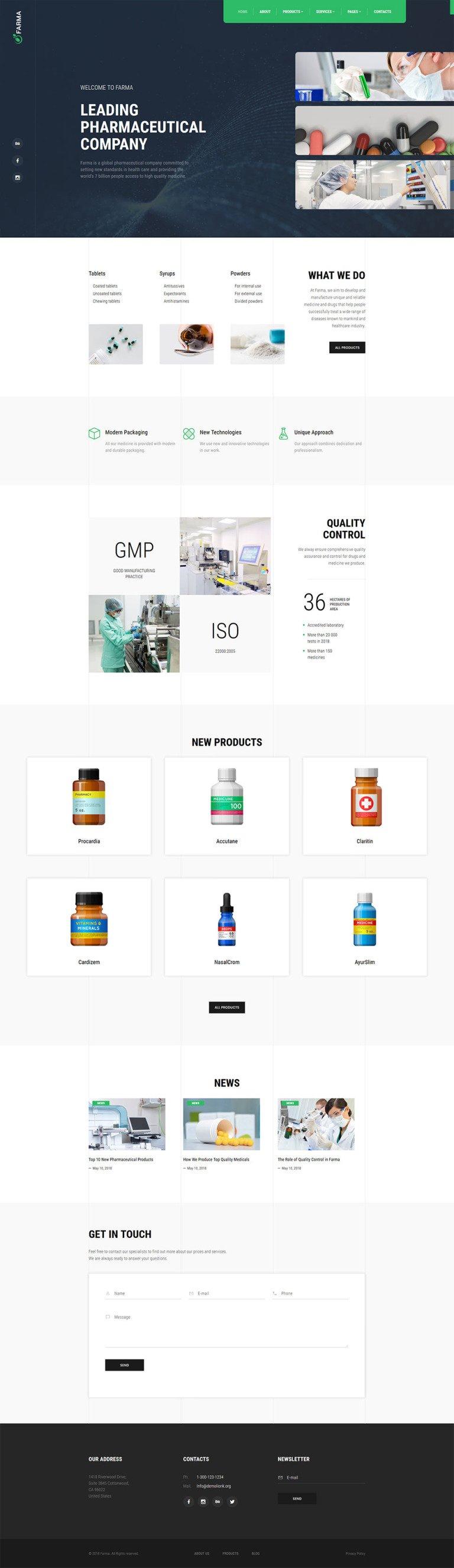 Pharmacy Co. - Medical & Drug Store Website Template New Screenshots BIG