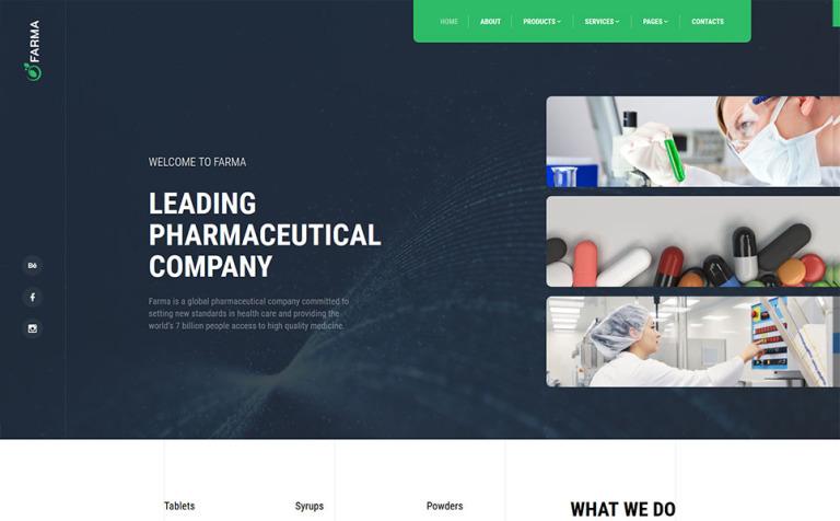 Drug Store Website Template