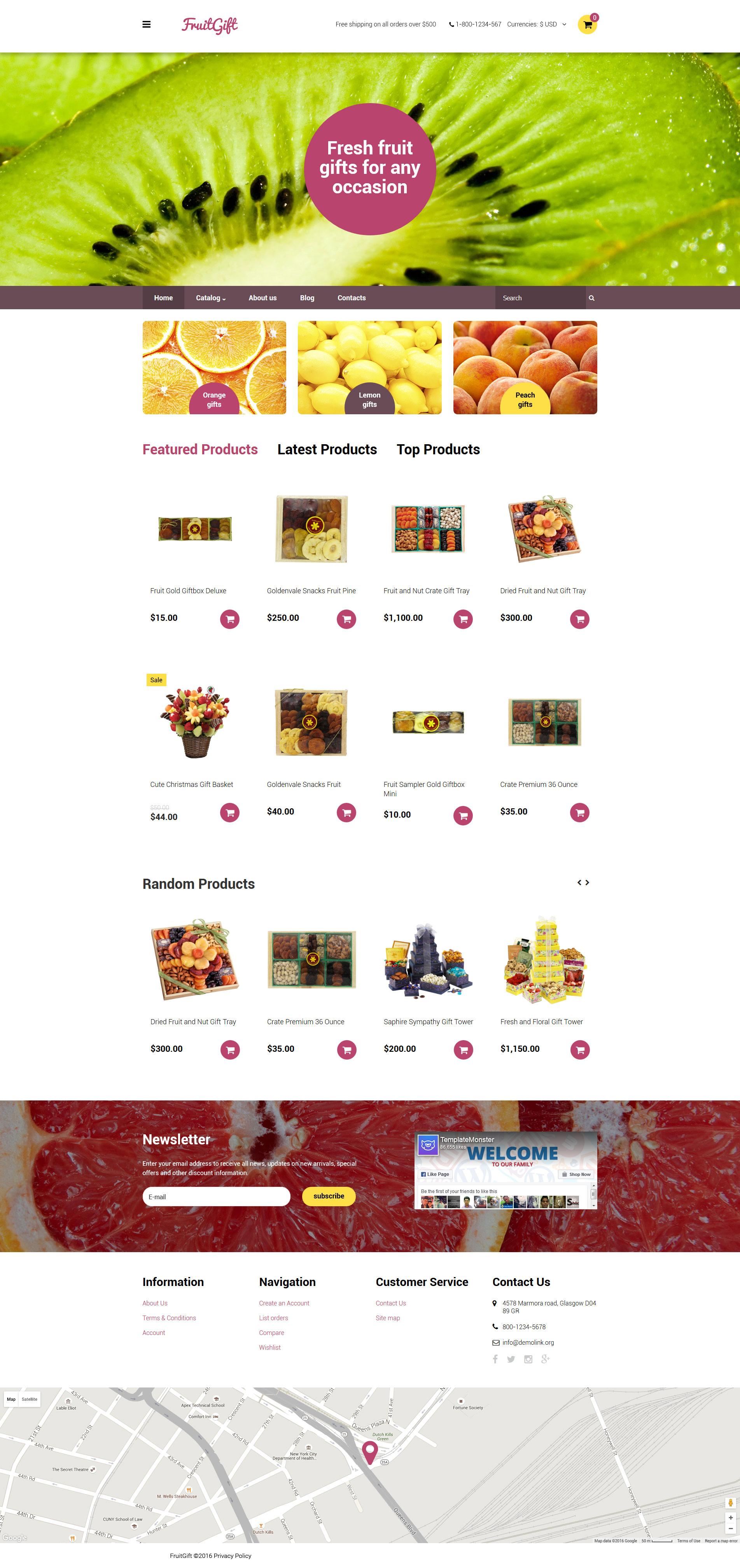 """Plantilla VirtueMart """"FruitGift"""" #58986"""