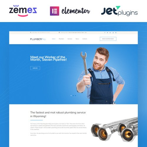 Plumbing Pro - Responsive WordPress Template