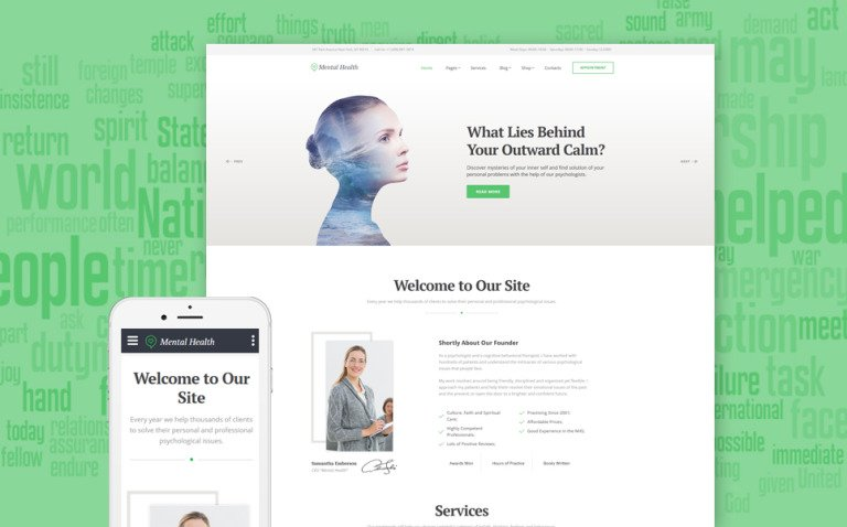Psychologist Responsive Website Template New Screenshots BIG